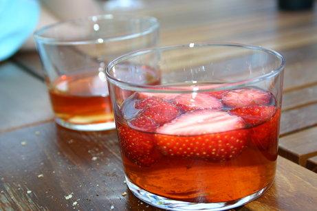 Soupe de fraises aux épices
