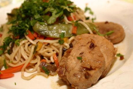 Filet mignon à la chinoise et légumes sautés