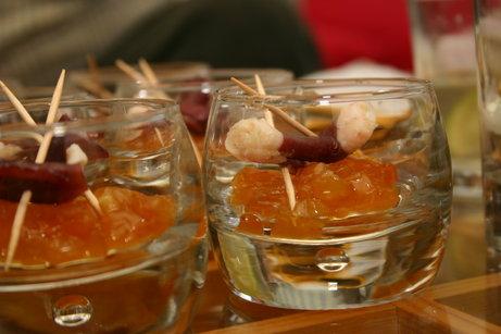 Mini verrines magret & abricots