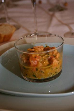 Tartare de saumon & mangue à la citronnelle