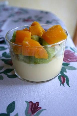 Petites verrines vanille et fruits exotiques