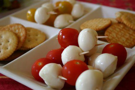 Brochettes de tomates cerises