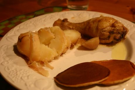 Curry et crêpes de banane