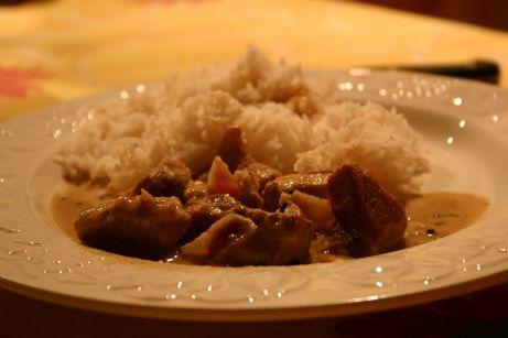 Sauté de porc au lait de coco